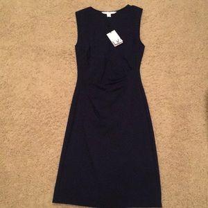 DVF Navy Sheath Dress